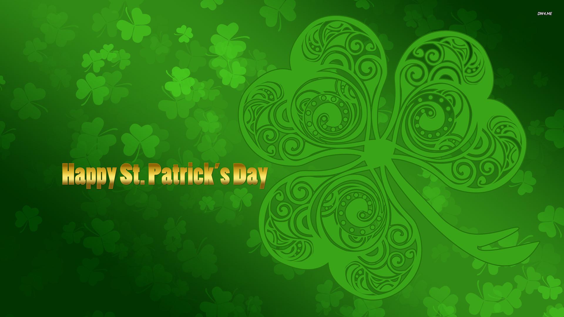 Holidays Clover Saint Patricks Day Shamrock St Patrick 1920x1080