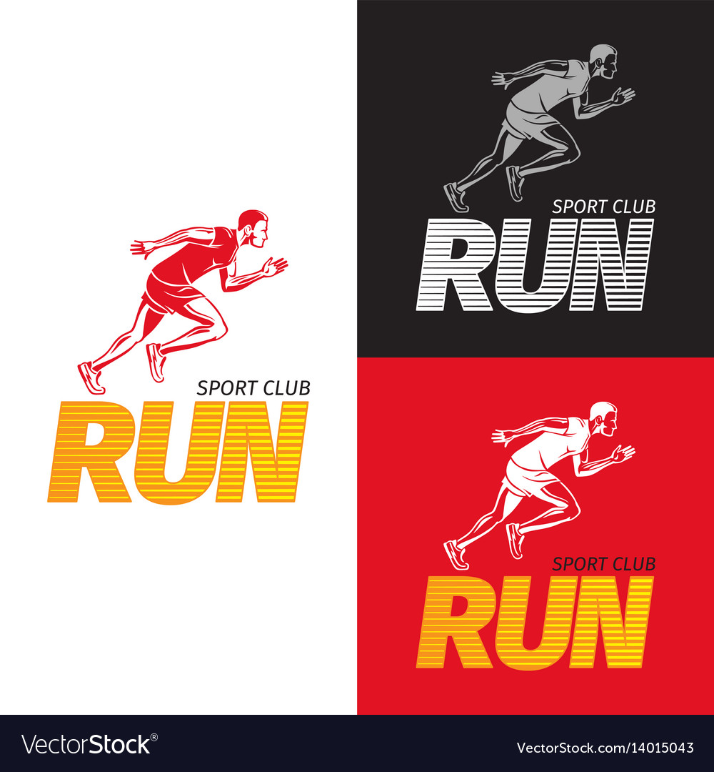 Running sportsman on different background sport Vector Image 1000x1080