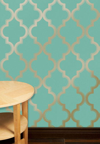 Chic Removable Wallpaper as Seen on HGTVs Power Broker Dorm Room 350x500