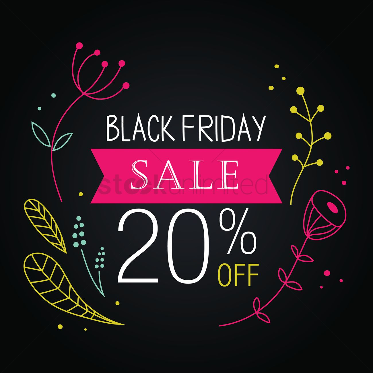 Black friday sale wallpaper Vector Image   1583239 StockUnlimited 1300x1300