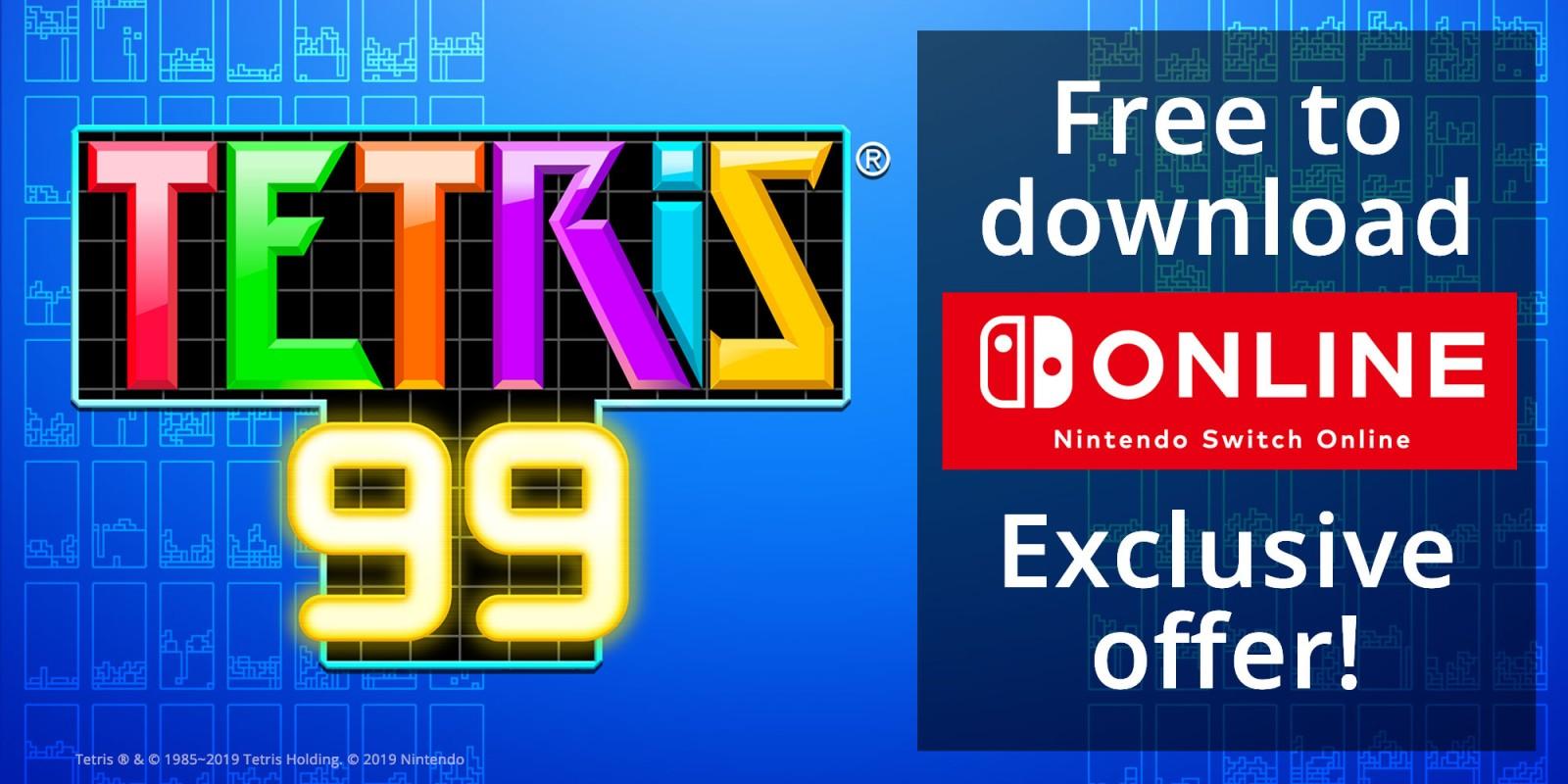TETRIS 99 Nintendo Switch download software Games Nintendo 1600x800