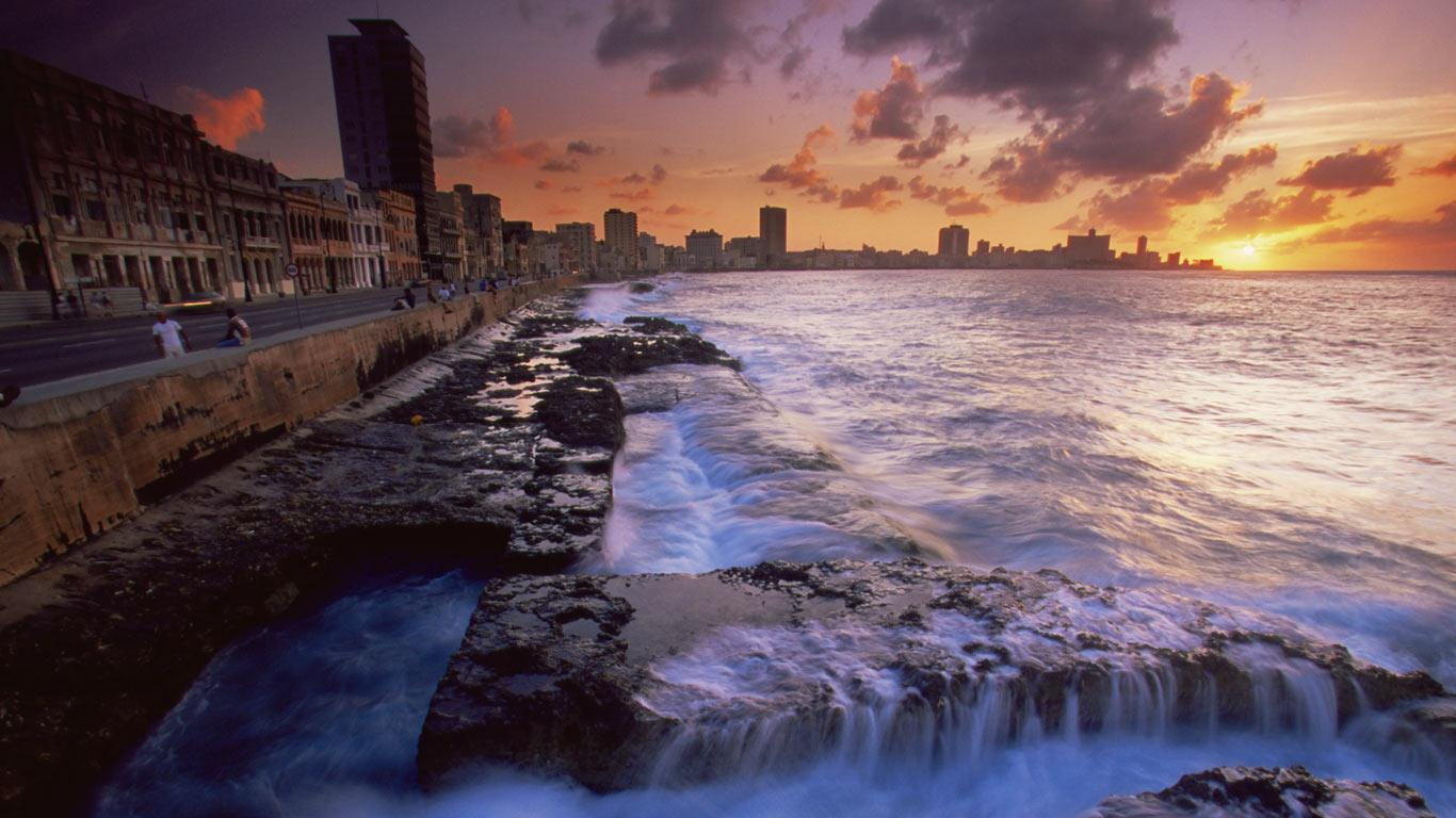 The Malecon Havana Cuba Robert Harding Picture Library 1366x768