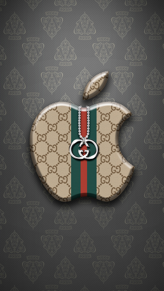 more search apple gucci iphone wallpaper tags apple fashion gucci logo 640x1136