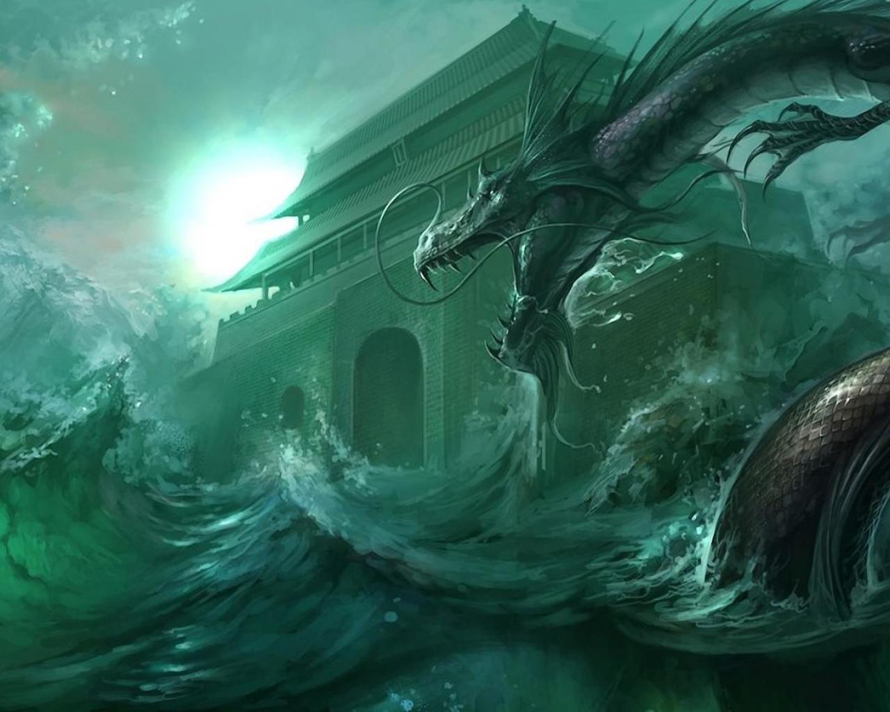 Water Dragon Wallpaper - WallpaperSafari