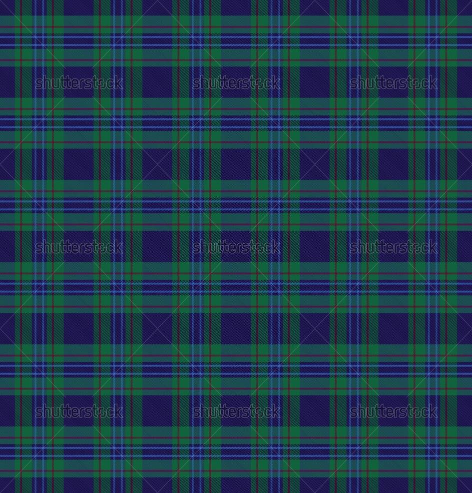Checkered Wallpaper: Blue Tartan Wallpaper
