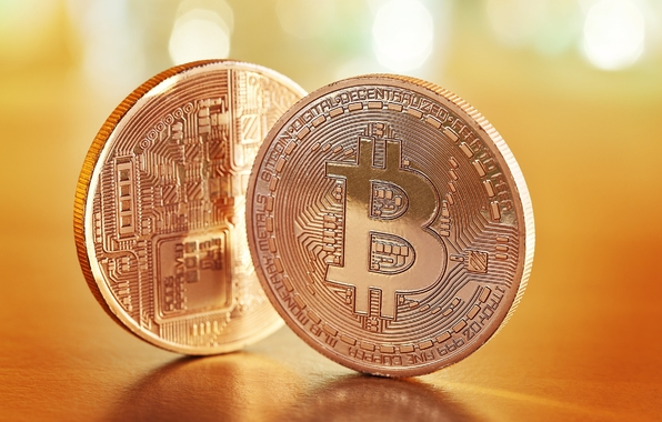 Wallpaper bitcoins currency metal wallpapers macro   download 596x380