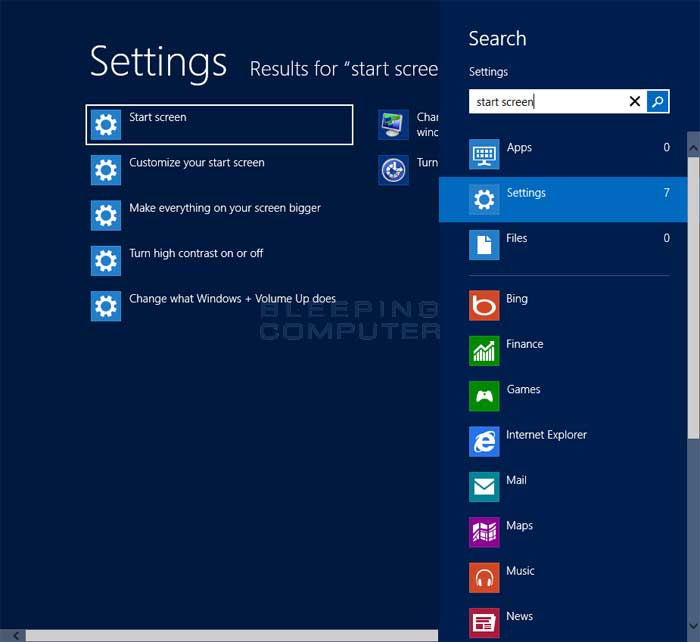 How to change the Windows 8 Start screen background 700x642