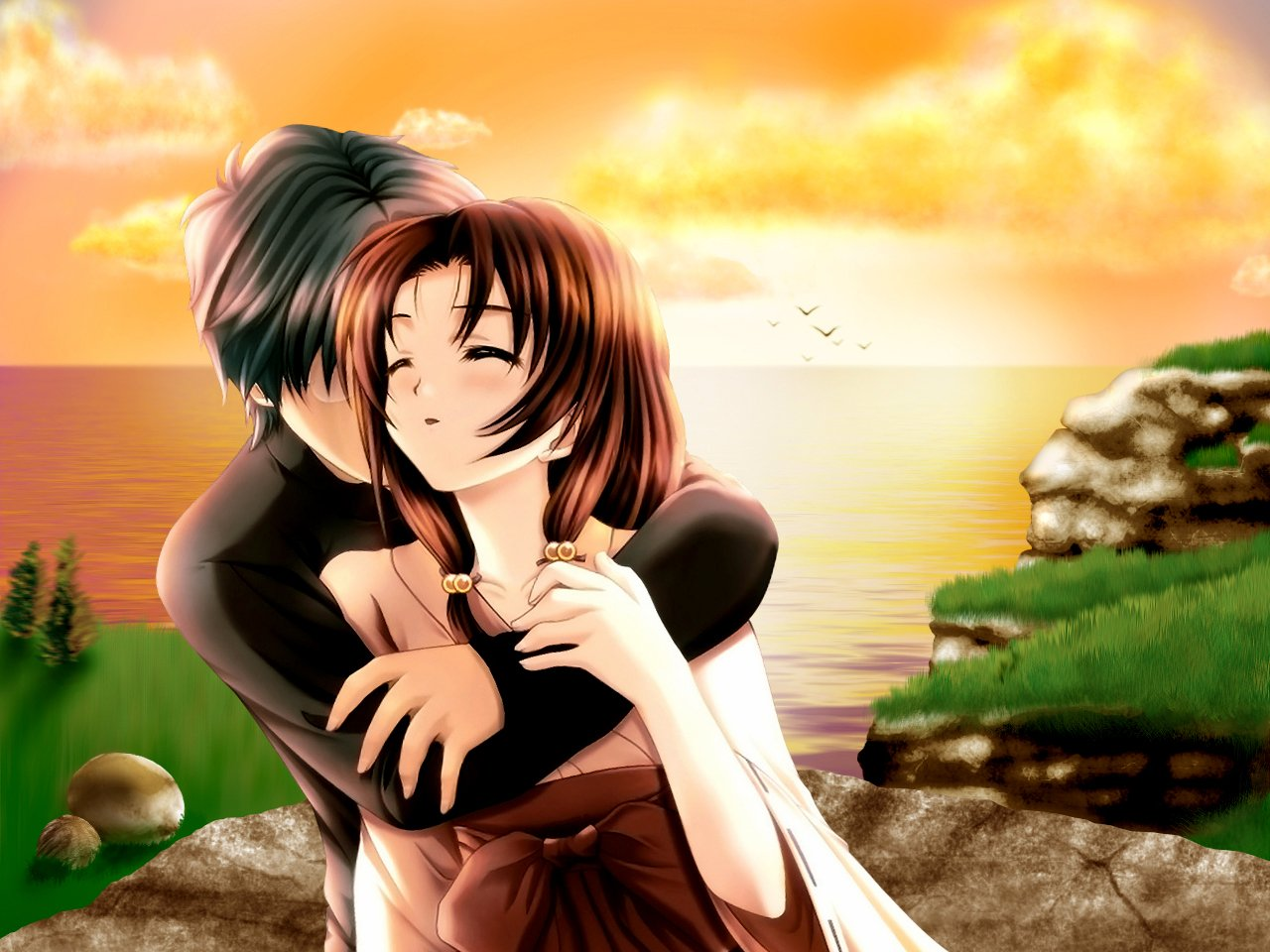 Pictures Cute Couple In Hd: Anime Couple HD Wallpaper