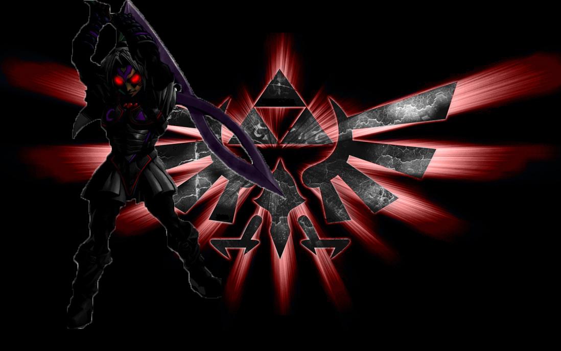 Oni Link Wallpaper Dark deity link by 1098x688