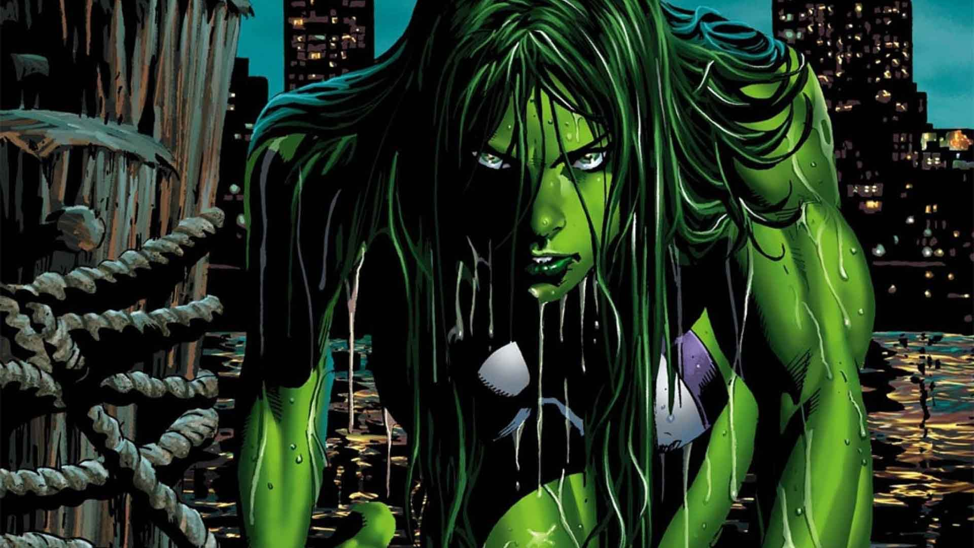 She Hulk Green Comics Girl Wallpaper   DreamLoveWallpapers 1920x1080