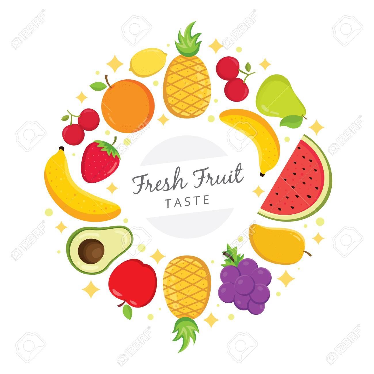Fresh Fruit Taste Background Fresh Colorful Fruits Arranged 1300x1300