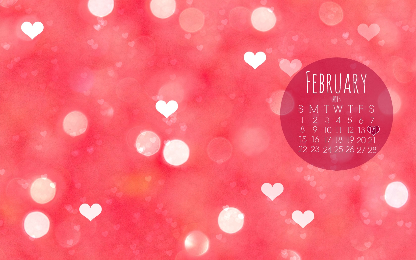 February Desktop Wallpaper 1680x1050