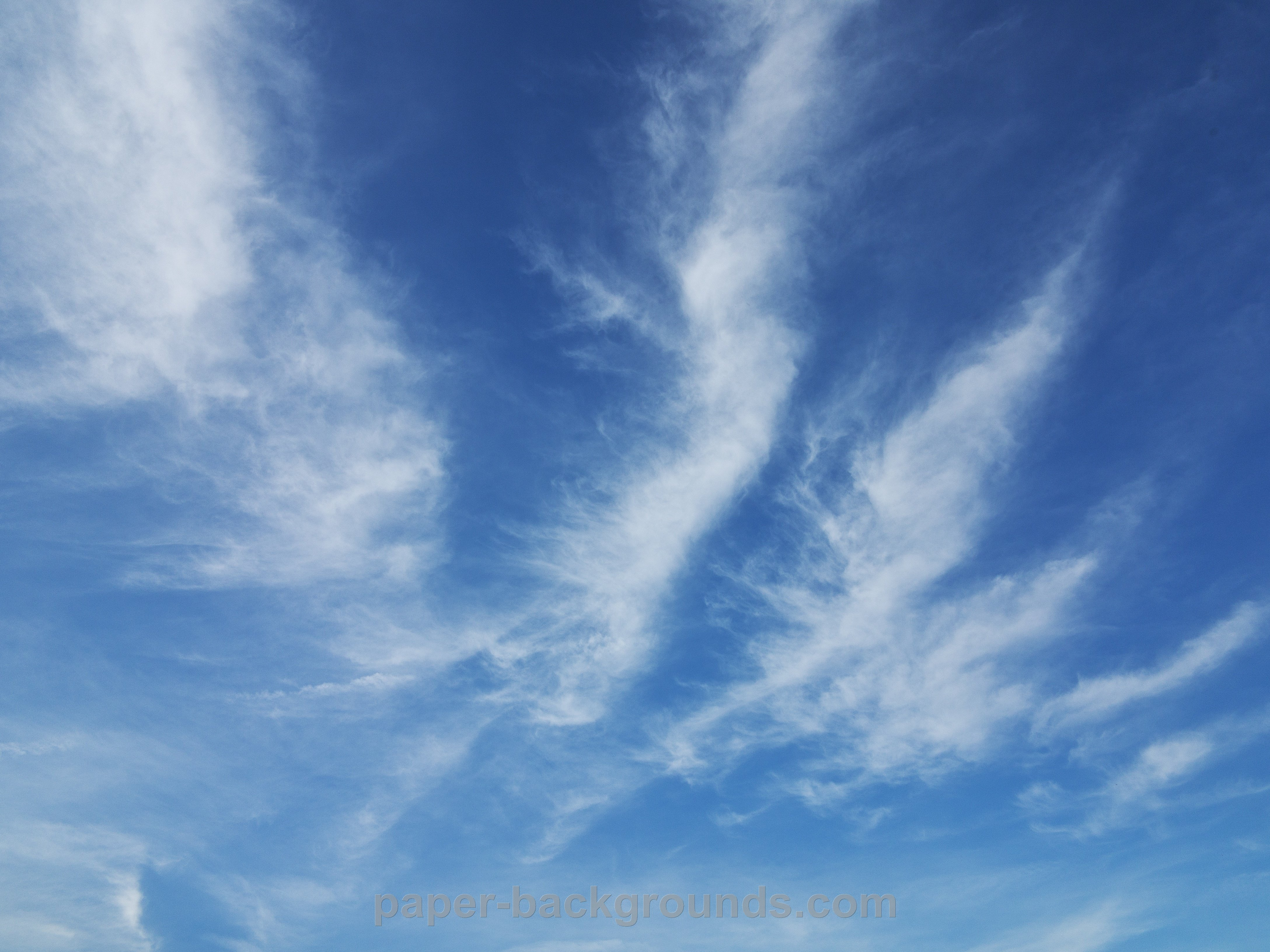 Blue Sky Clouds Background 4352x3264