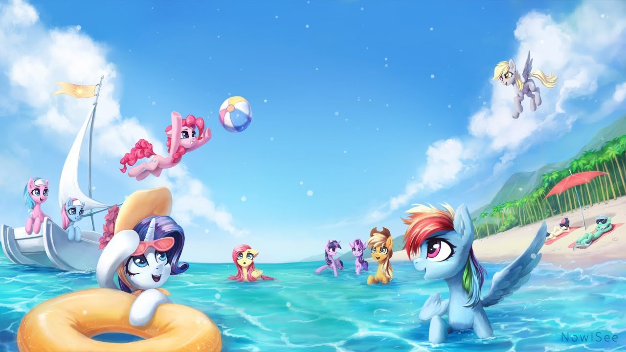 MLP Summer Animated Wallpaper 1280x720