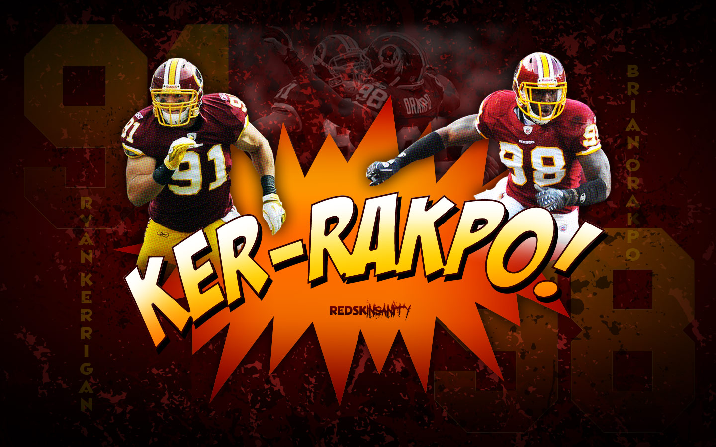 Week Two Targets Ryan Kerrigan and Brian Orakpo Second and fourth 1440x900