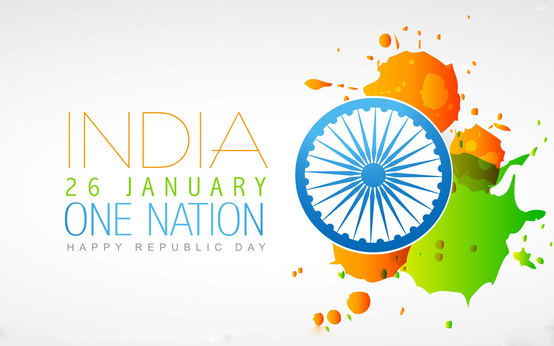 26 January Happy Republic Day One Nation Greetings HD Wallpapers 1920x1200