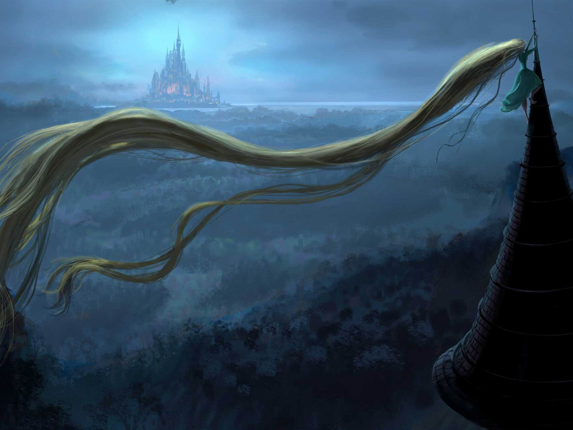 Description rapunzel tower World of fantasy art design HD wallpaper 1920x1440