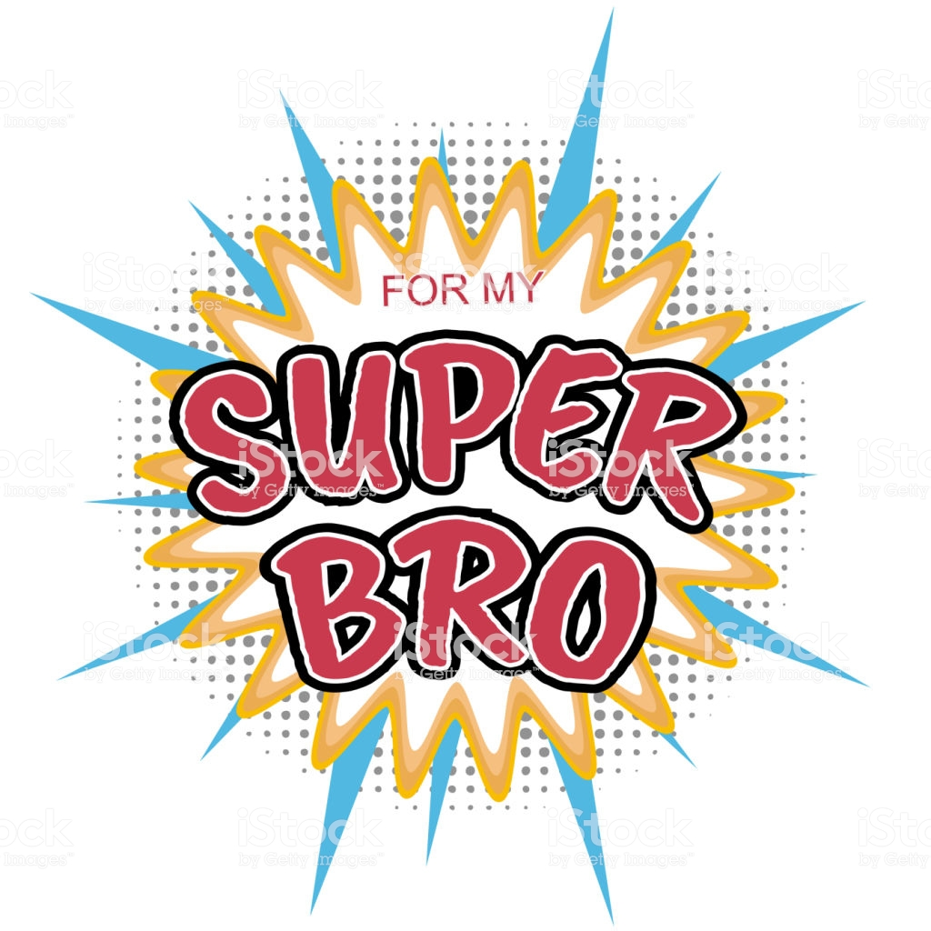 Super Bro Text On Pop Art Background For Raksha Bandhan Concept 1024x1024