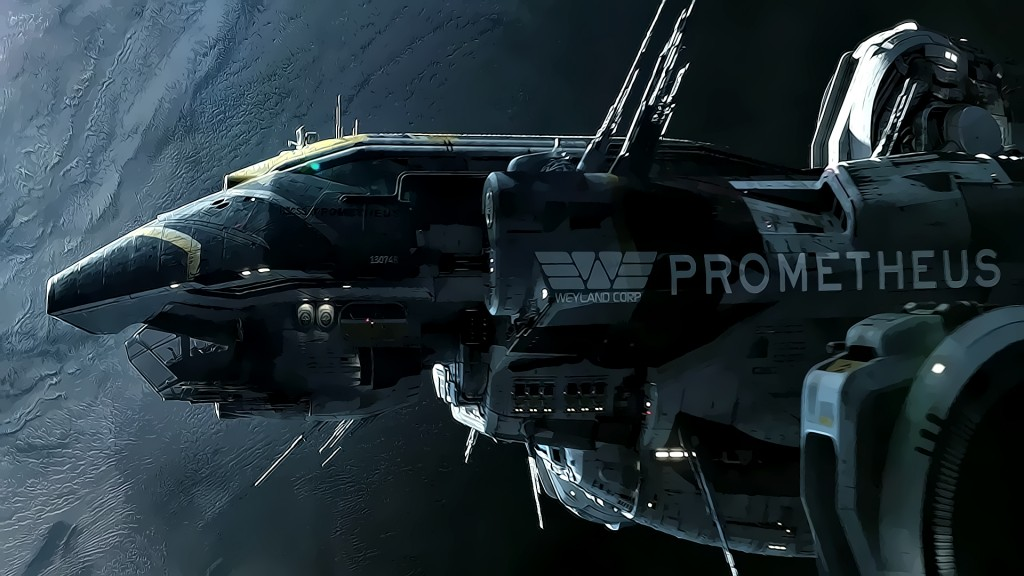 The spaceship Prometheus wallpaper 1920x1080 HQ Wallpapers 1024x576