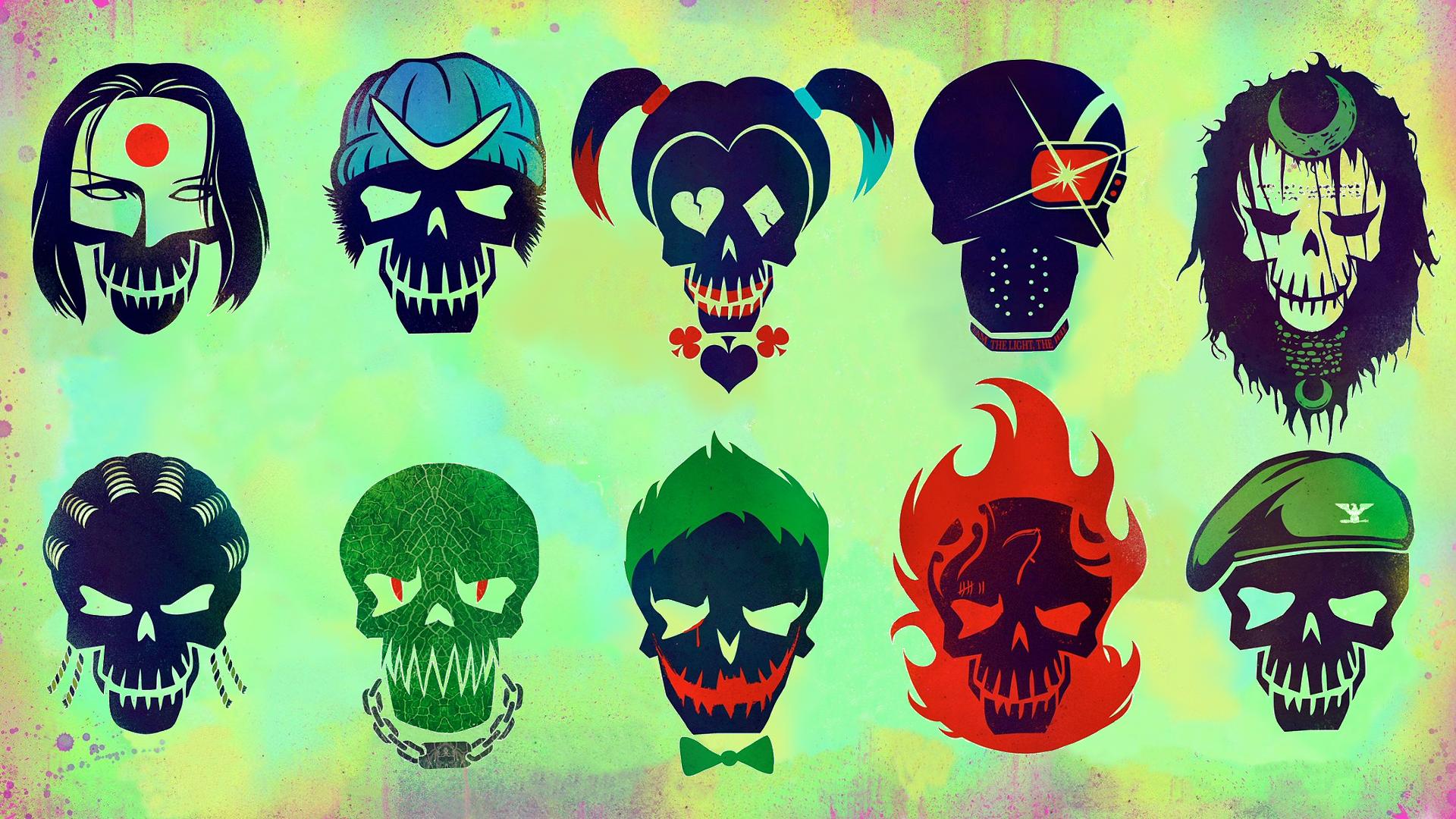 Suicide Squad Characters Widescreen Computer Wallpaper 1159 1920x1080