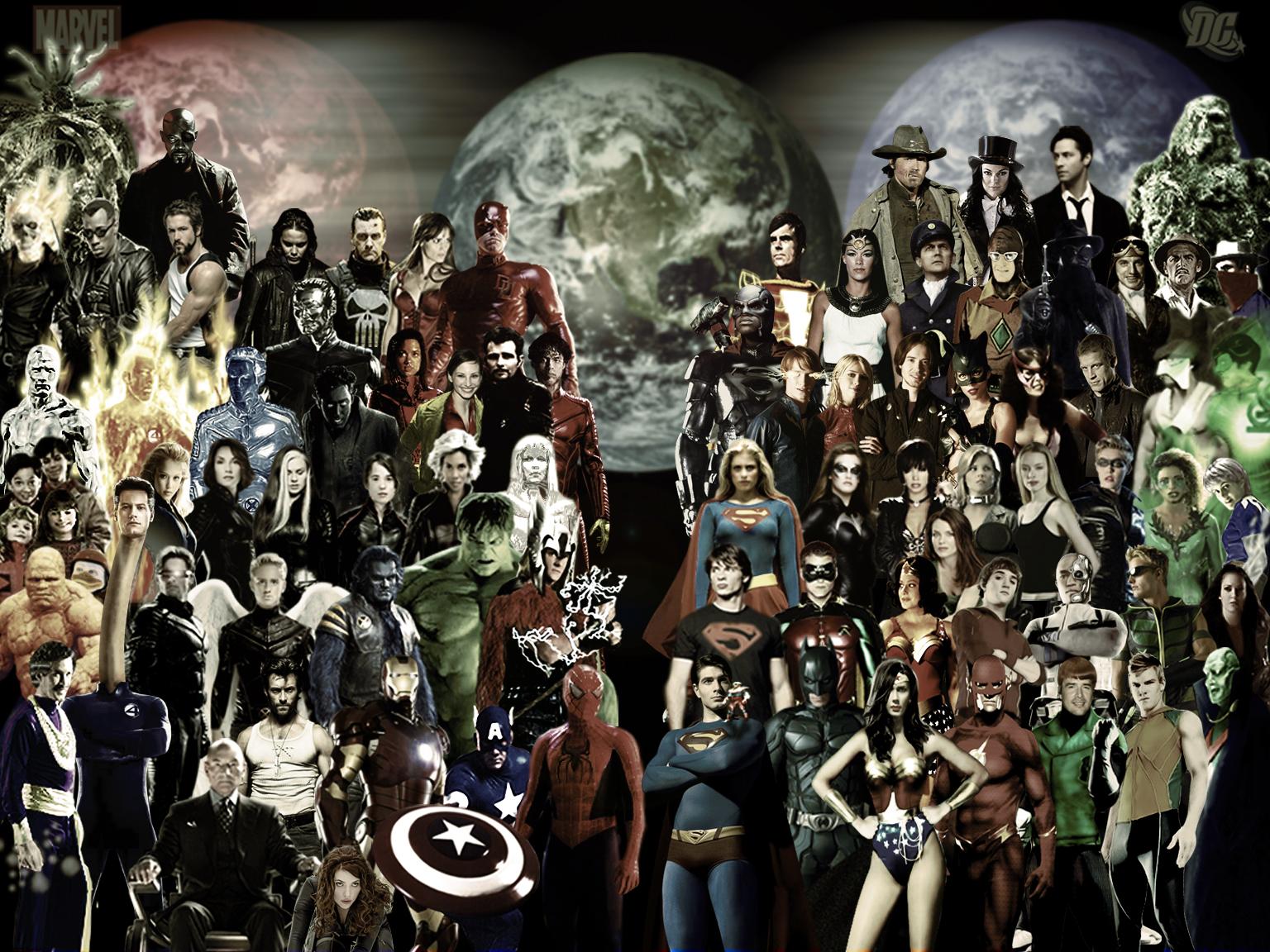Marvel vs dc wallpaper wallpapersafari - Dc characters wallpaper hd ...