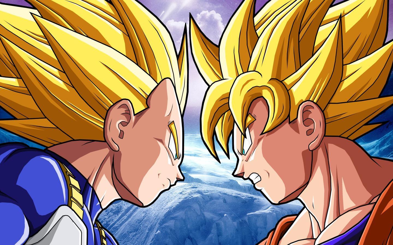 Wallpaper Vegeta SSJ2 vs Goku SSJ2 Imagenes de Dragon Ball Z 1440x900