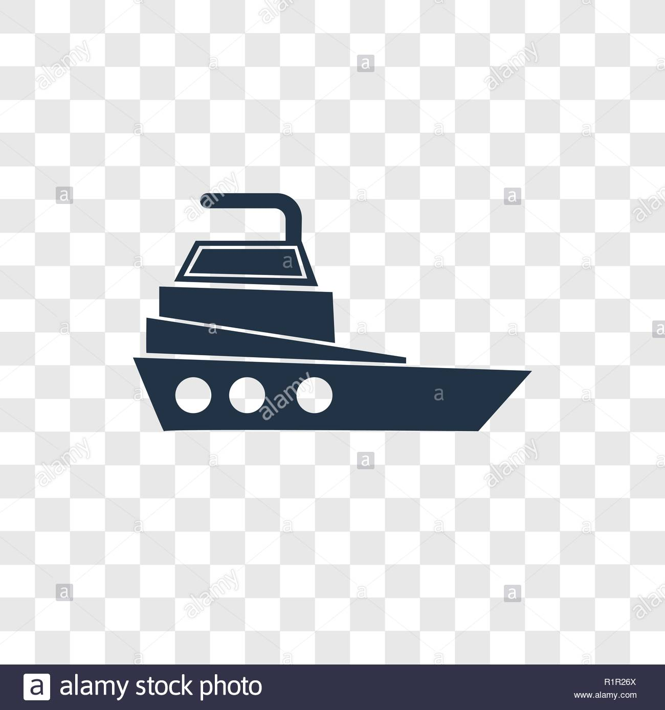 Yatch vector icon isolated on transparent background Yatch 1300x1389