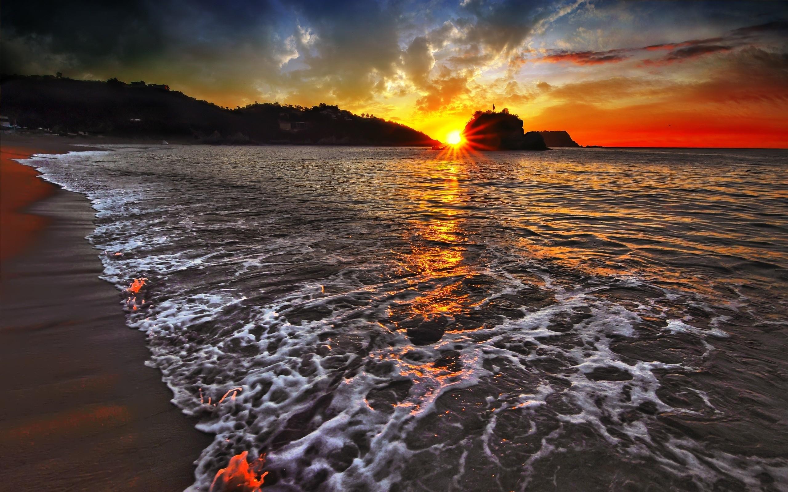wallpaper sunset landscapes nature beach categories nature landscapes 2560x1600