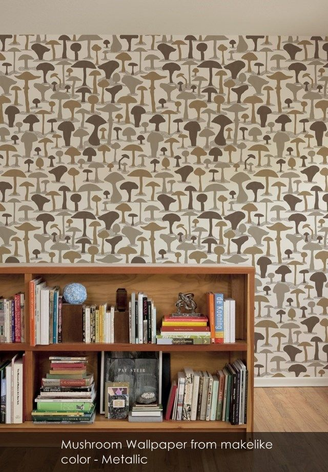 Mushroom wallpaper from makelike in Metallic A wee pinch of 640x920