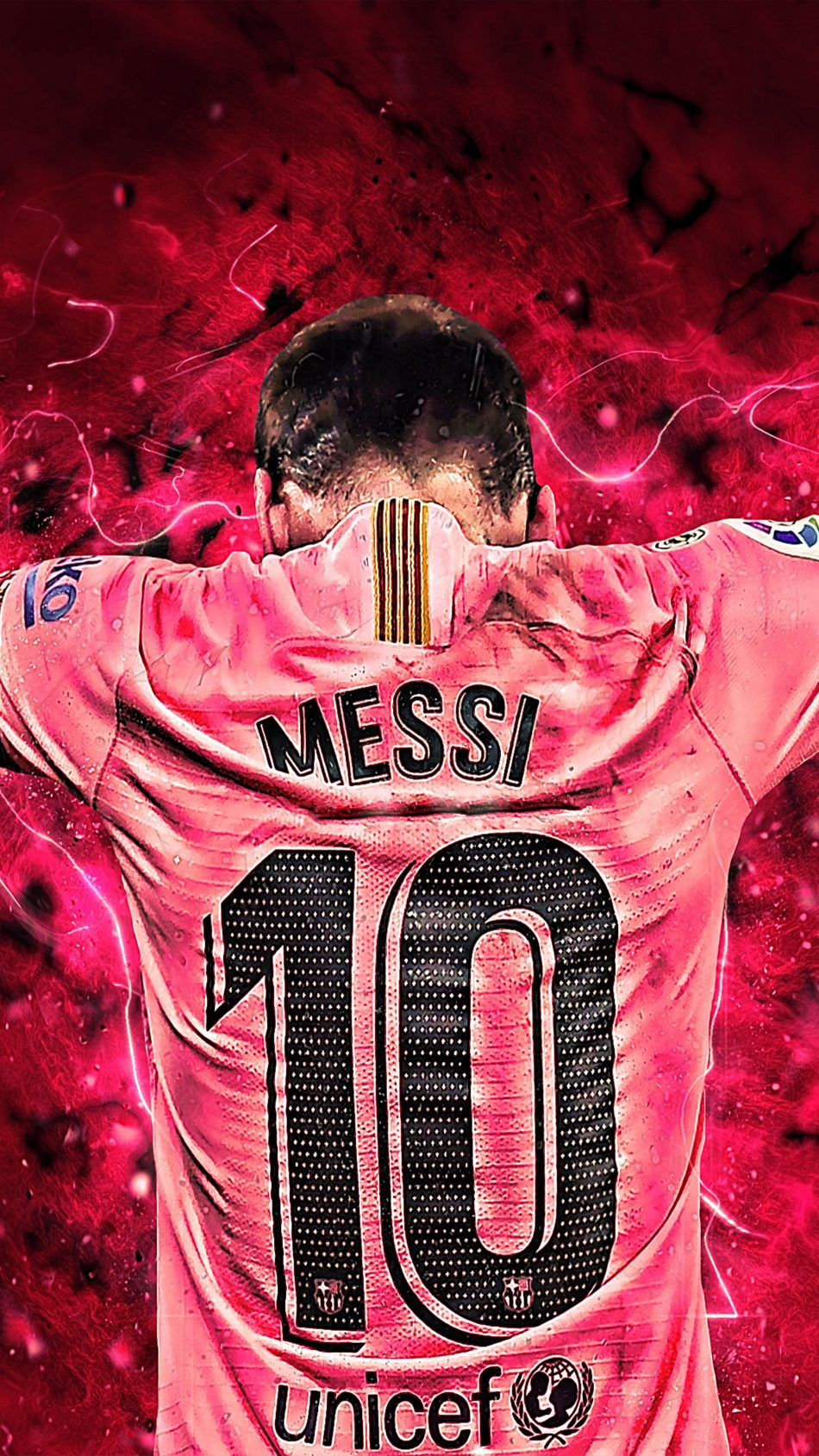 Messi 10 Art Graphics 4K Ultra HD Mobile Wallpaper 950x1689