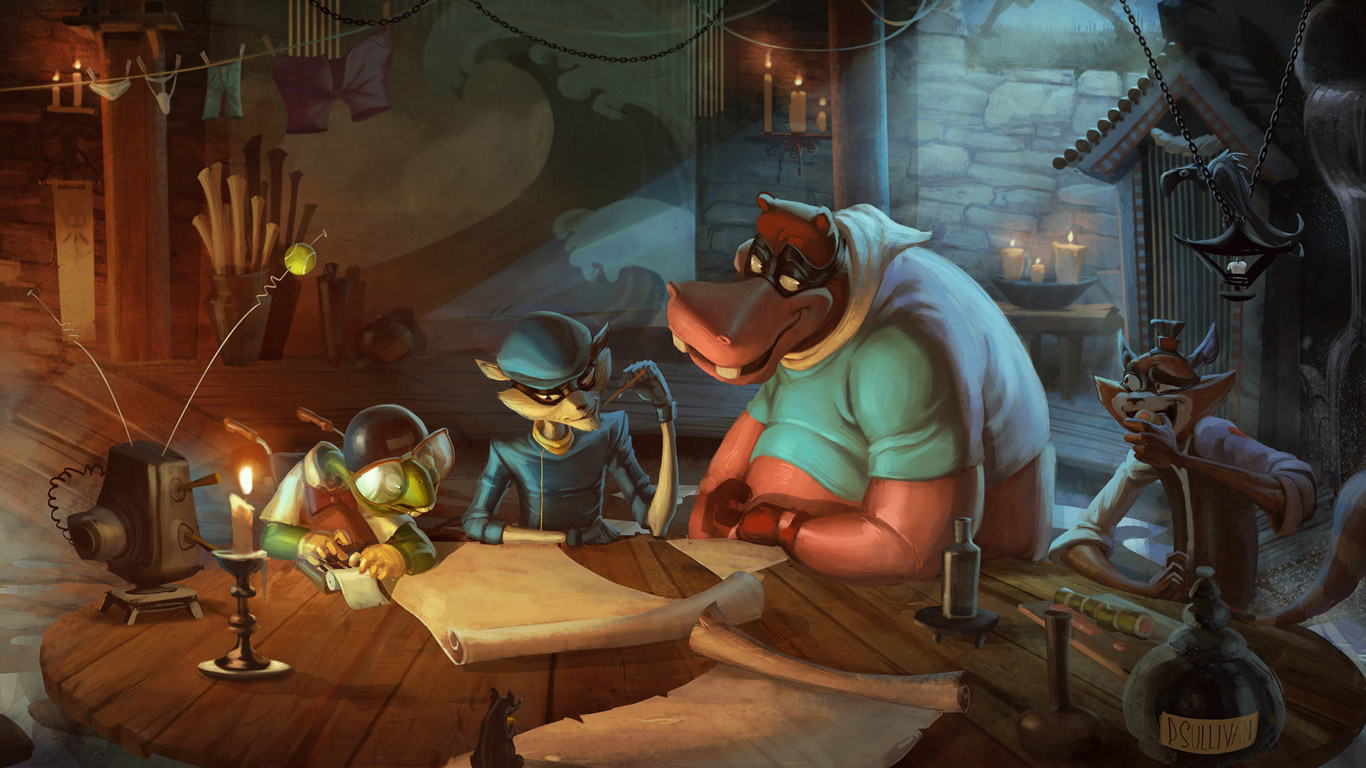 Sly Cooper Thieves in Time Wallpaper in 1366x768 1366x768
