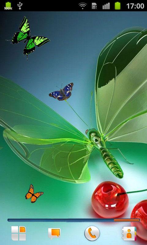 Butterflies Live Wallpaper   screenshot 480x800
