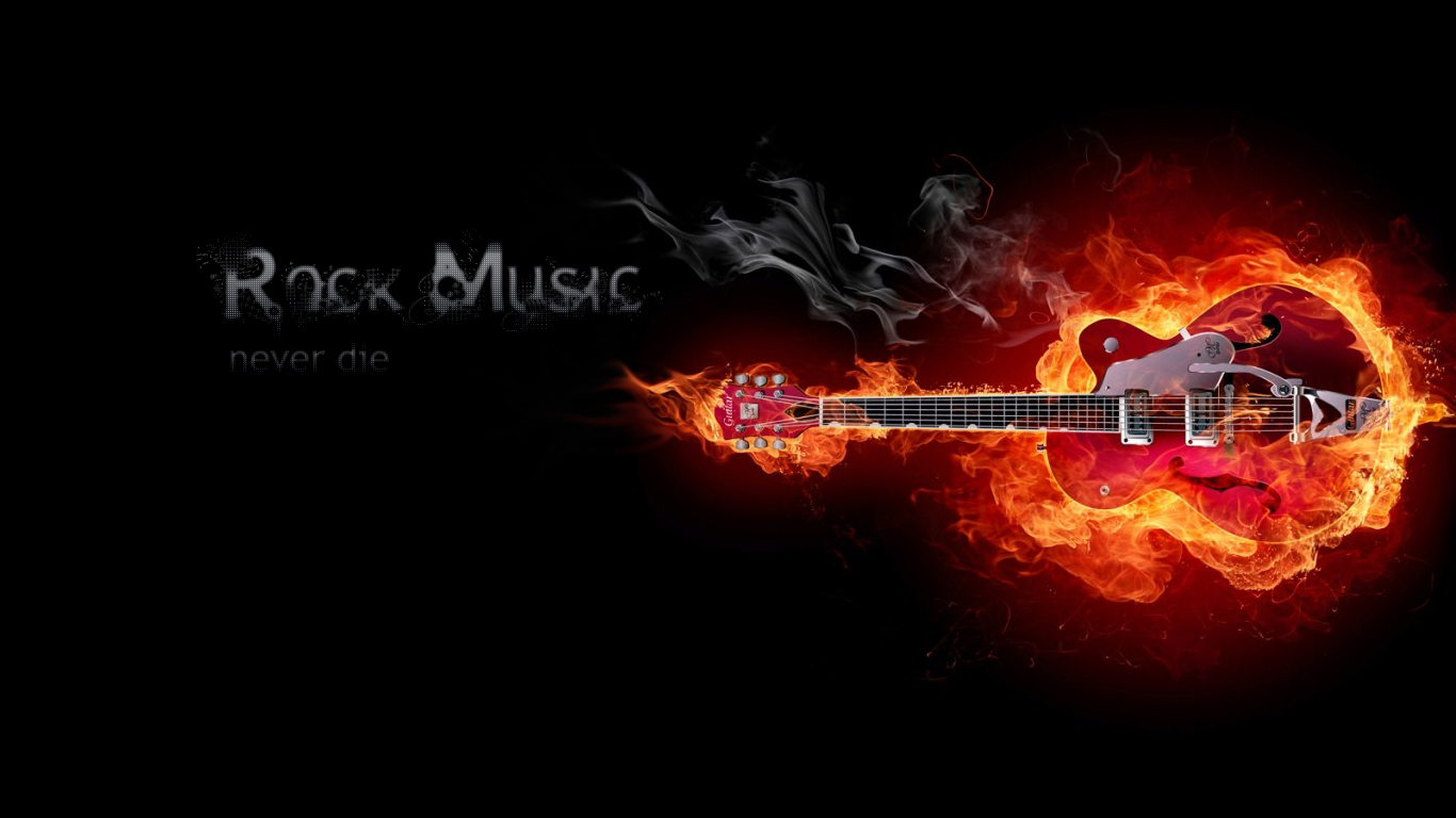 Rock Music Wallpaper 1366x768