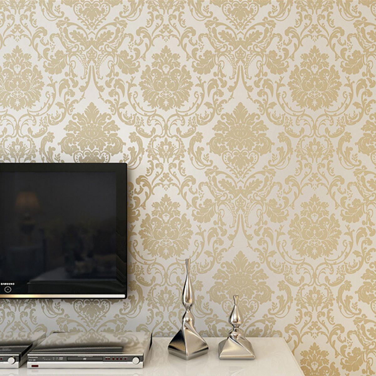 10m wallpaper roll 4 colors embossed damask design flocked non 1200x1200
