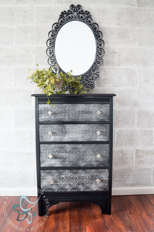 Decoupaged WallPaper Dresser with GF Chalk Style Paint and Pearl 598x900