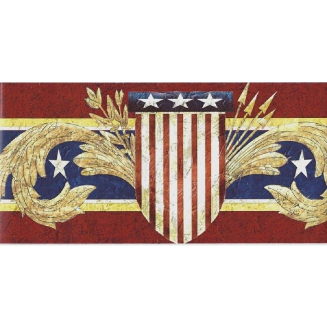 PATRIOTIC AMERICAN SHIELD PEEL N STICK BORDER   All 4 Walls Wallpaper 650x650