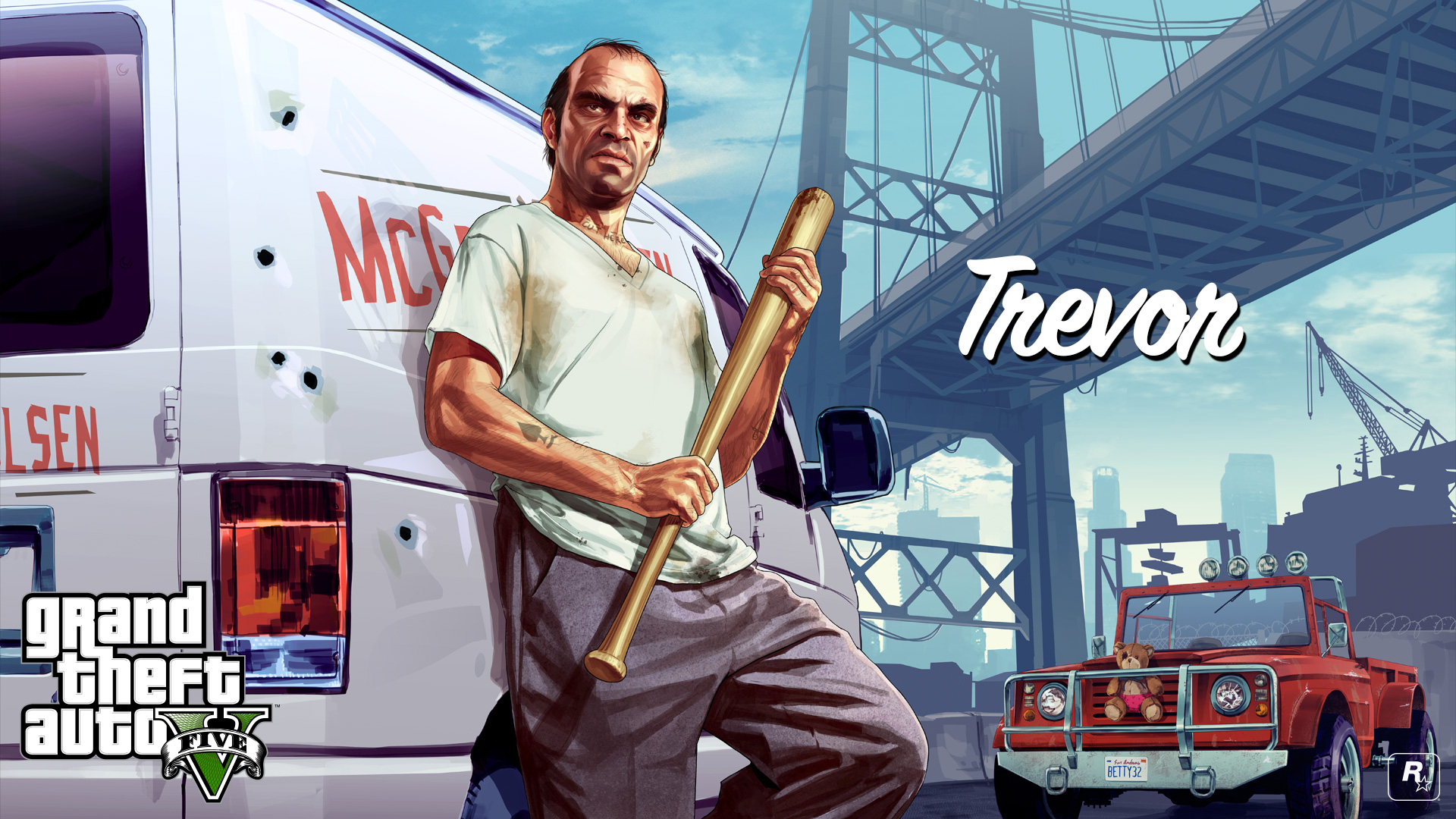 GTA Vs Michael Franklin And Trevor Get The HD Wallpaper Treatment 1920x1080
