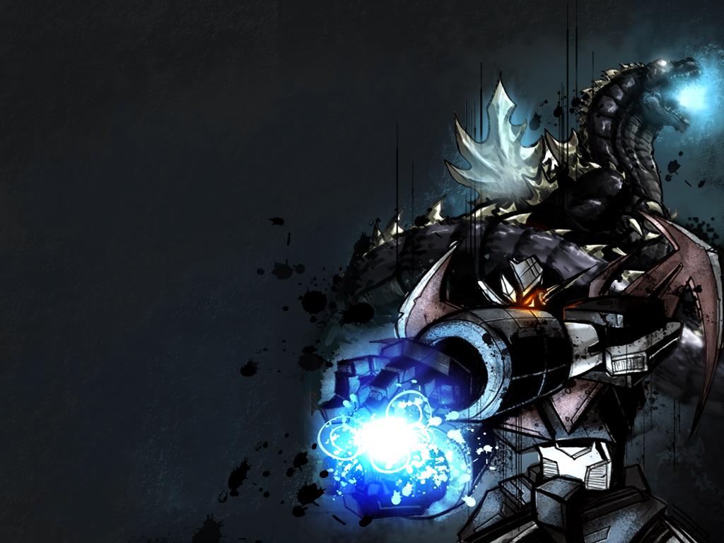 GodzillaMazinger z wallpaper by Notason89 1024x768