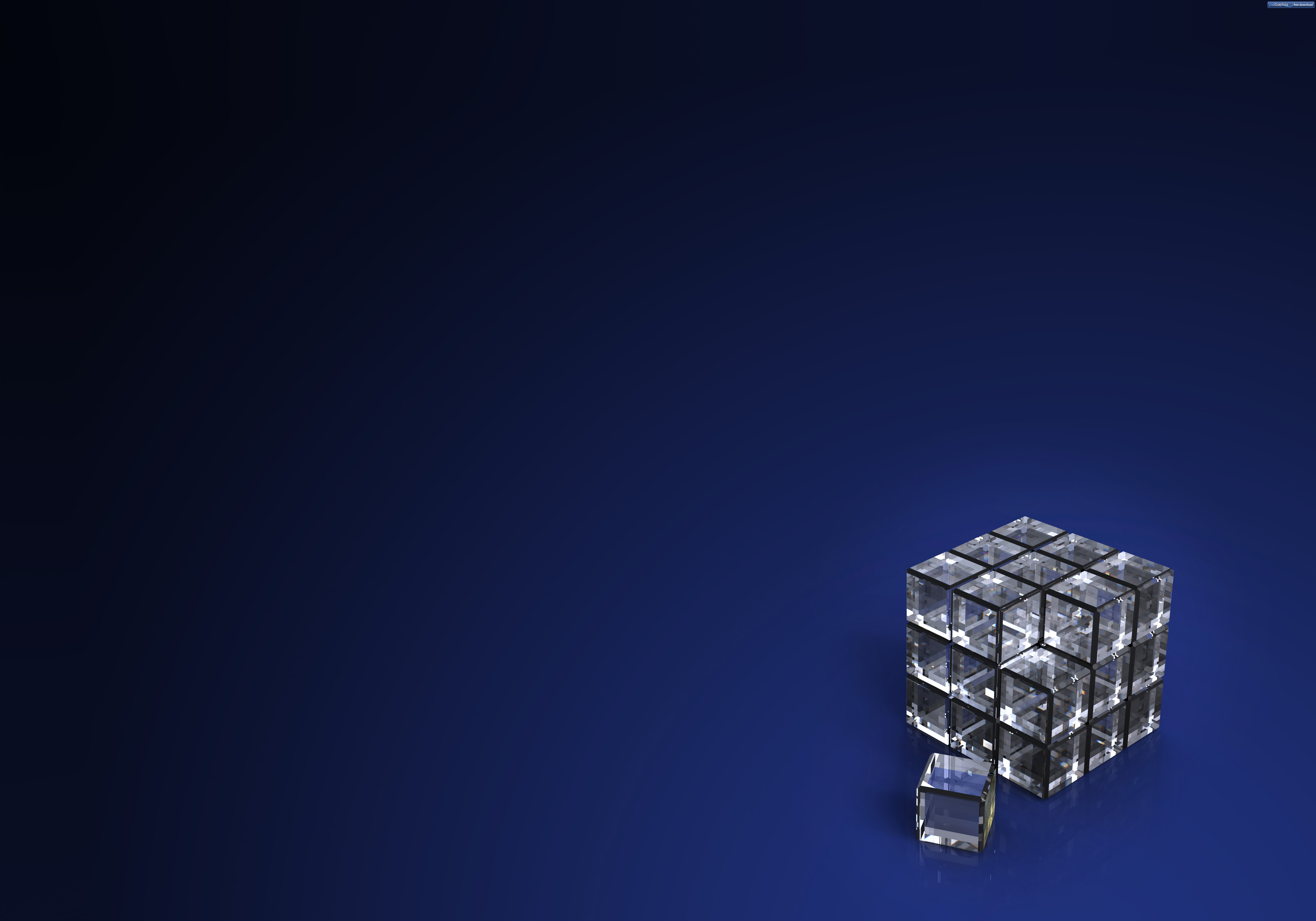 Crystal cube background PSDGraphics 5000x3500
