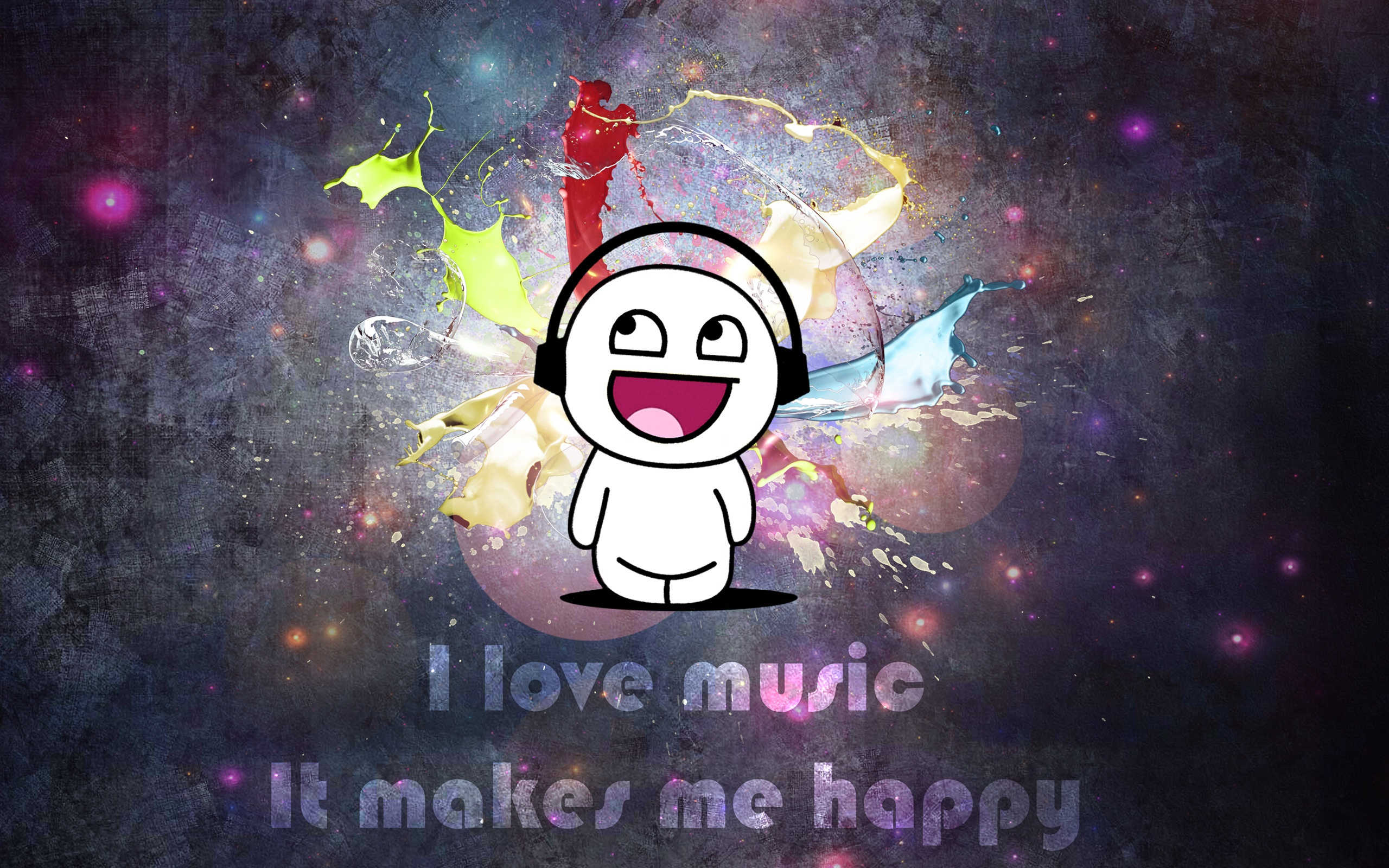 love music it makes me music anime Wallpaper Anime Wallpaper 2560x1600