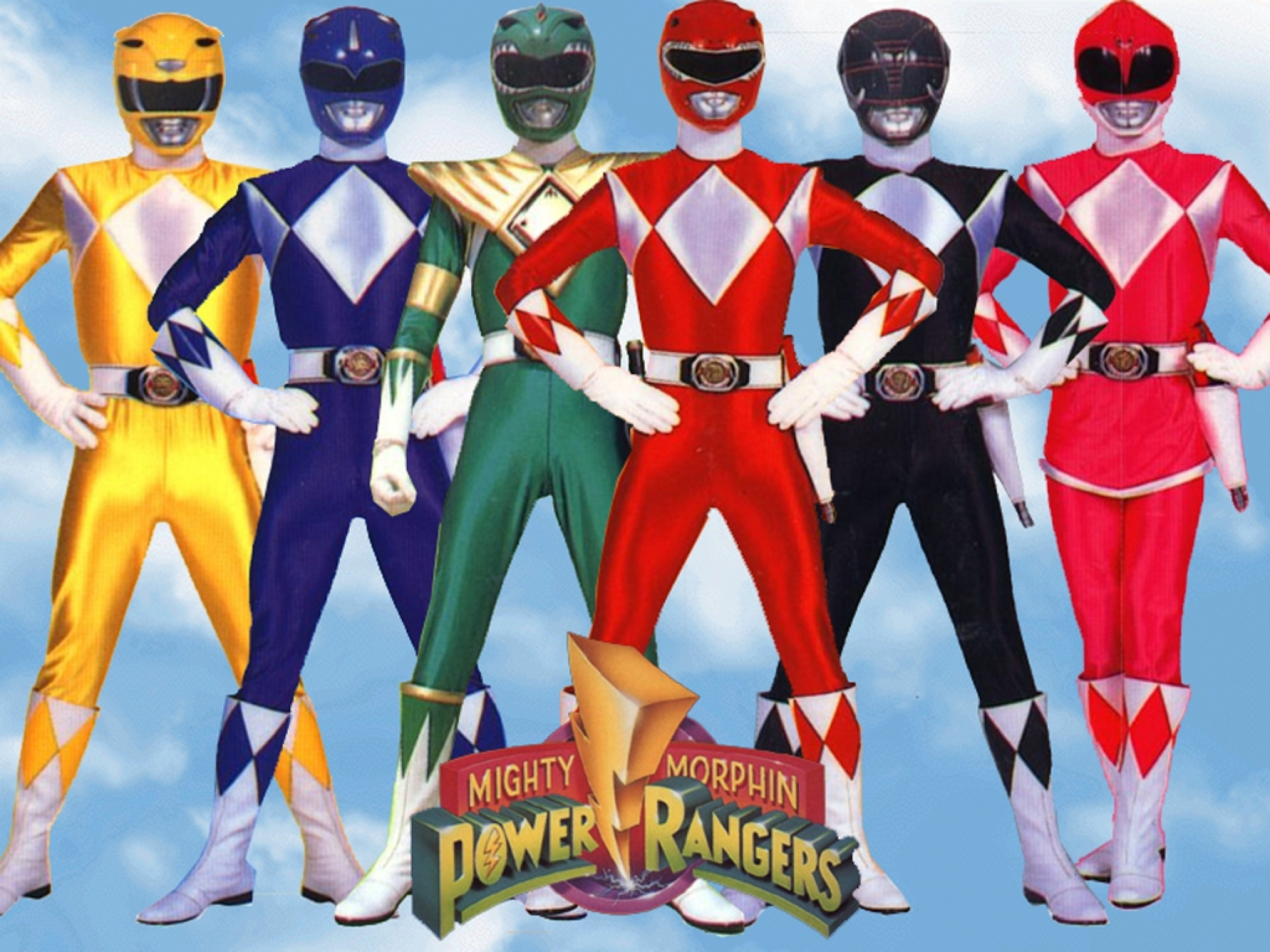 Po po power ranger pages to color - Mighty Morphin Power Rangers Wallpaper Walljpeg Com