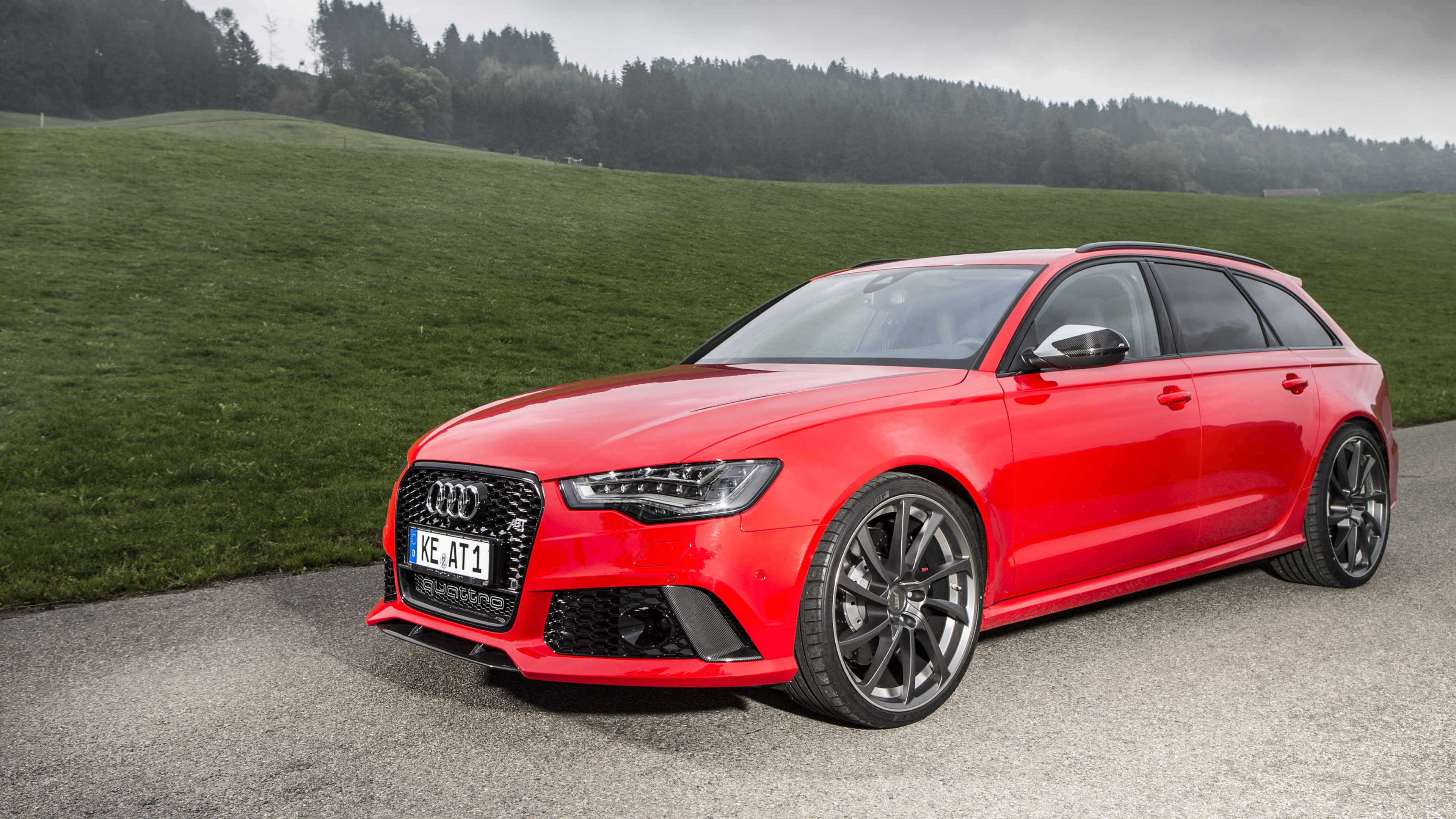 Download Wallpaper 3840x2160 audi rs6 abt wagon 2013 4K Ultra HD 3840x2160