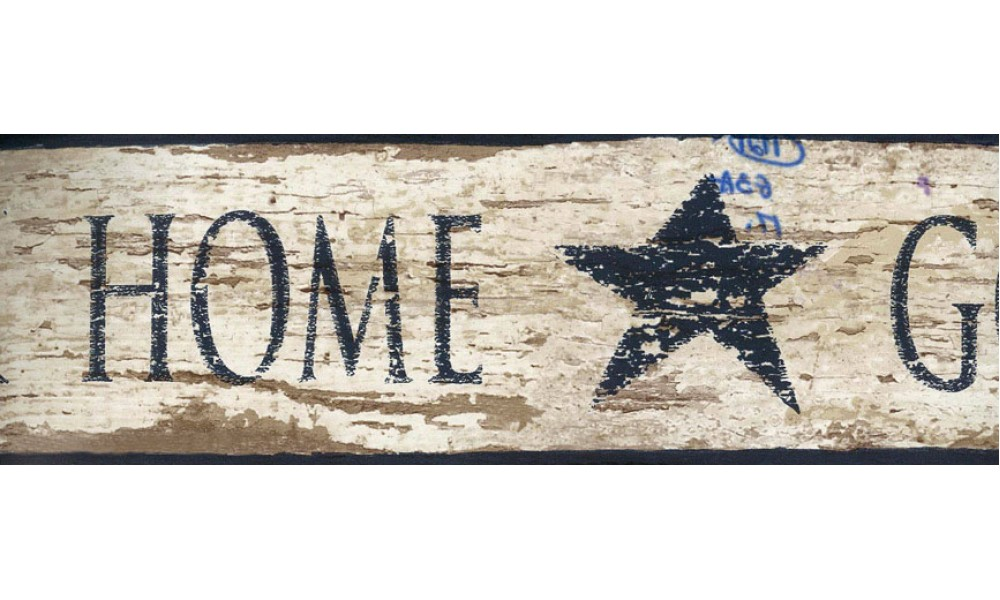Home Brown Home Star Wallpaper Border 1000x600