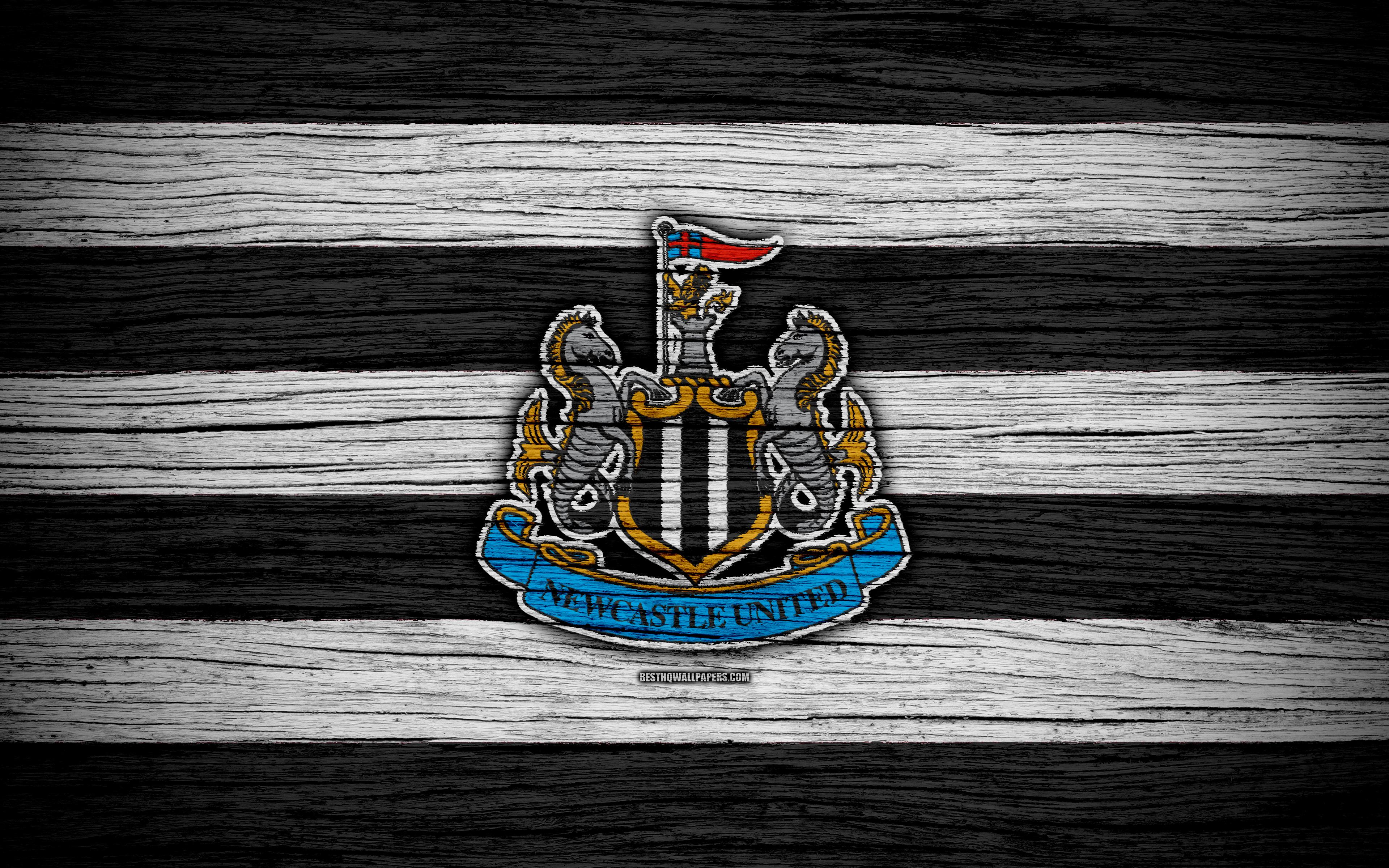 Download wallpapers Newcastle United 4k Premier League logo 3840x2400