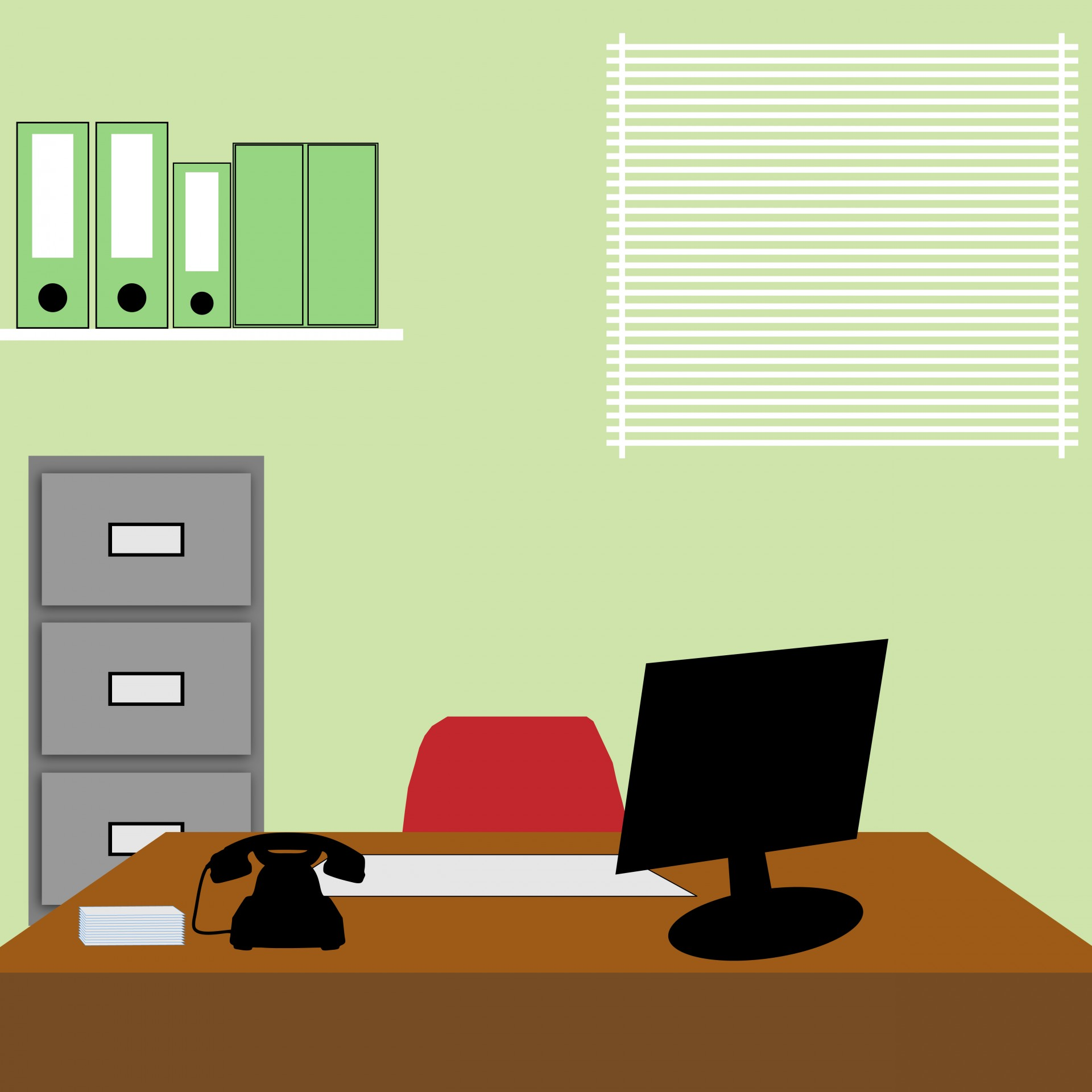 Office Background Illustration by Karen Arnold 1920x1920