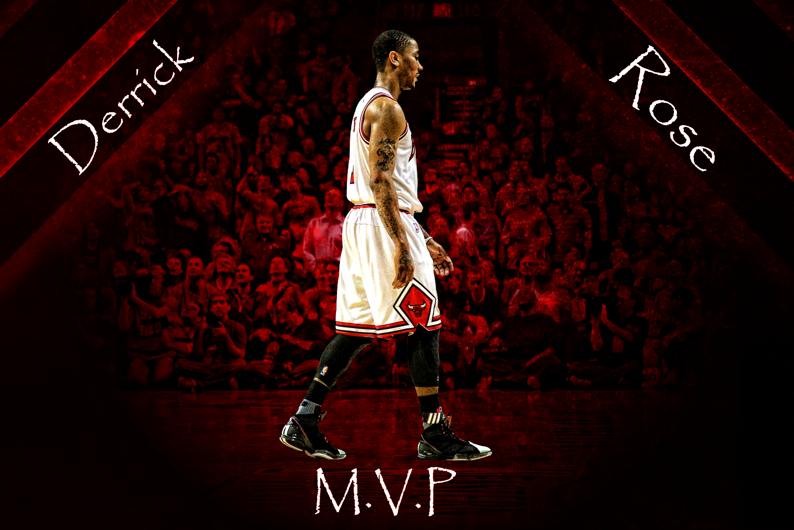 Derrick Rose MVP Wallpaper Medium photo DerrickRoseMVPTextMediumpng 1600x1067