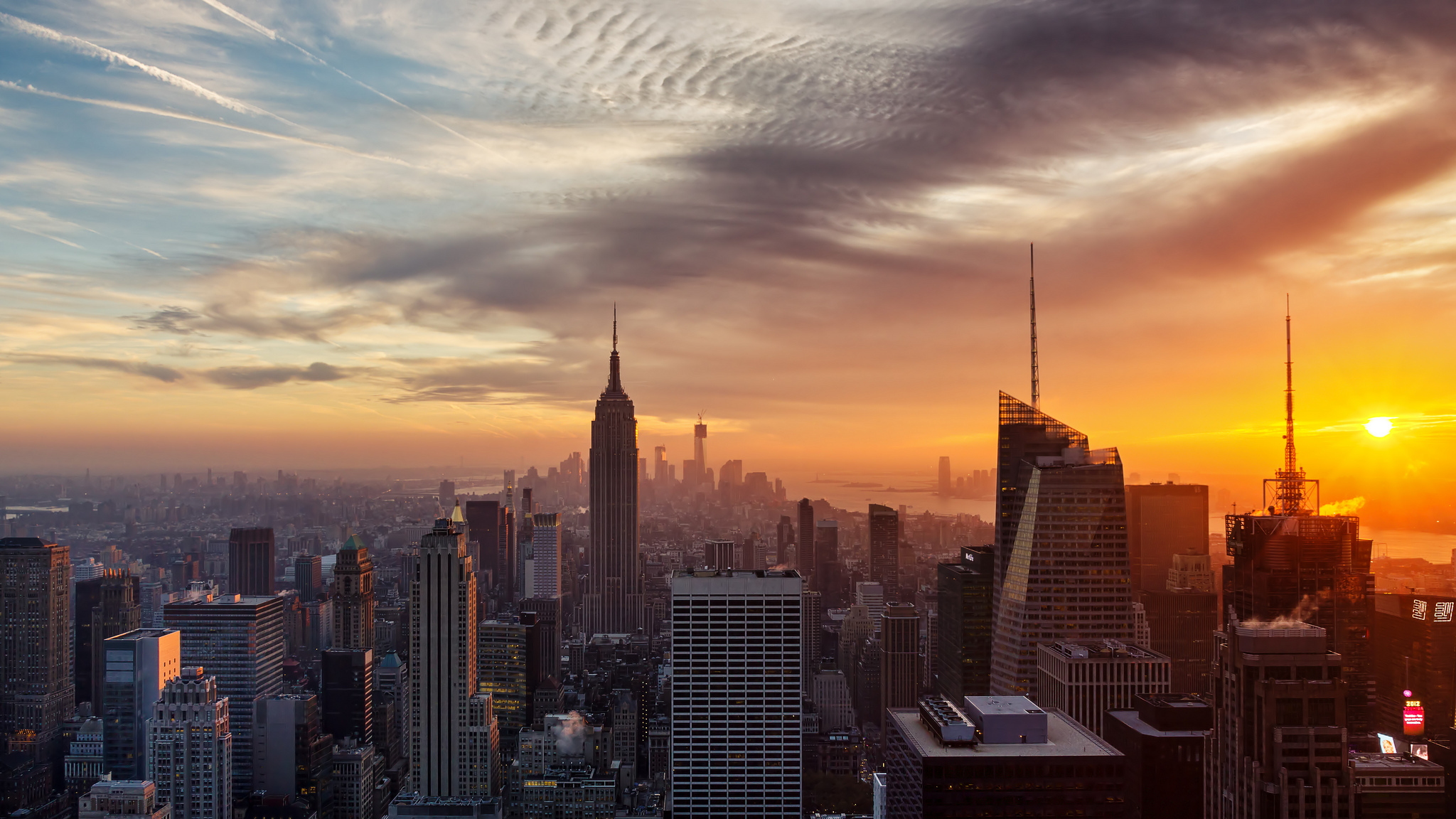 New York City Wallpaper Sunset wallpaper wallpaper hd background 2048x1152