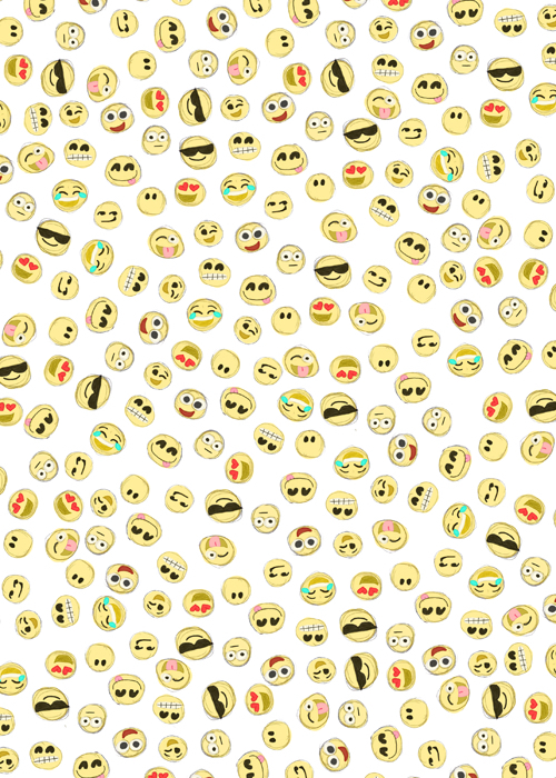 background cartoon cute emoji faces wallpaper   image 2514516 by 500x700