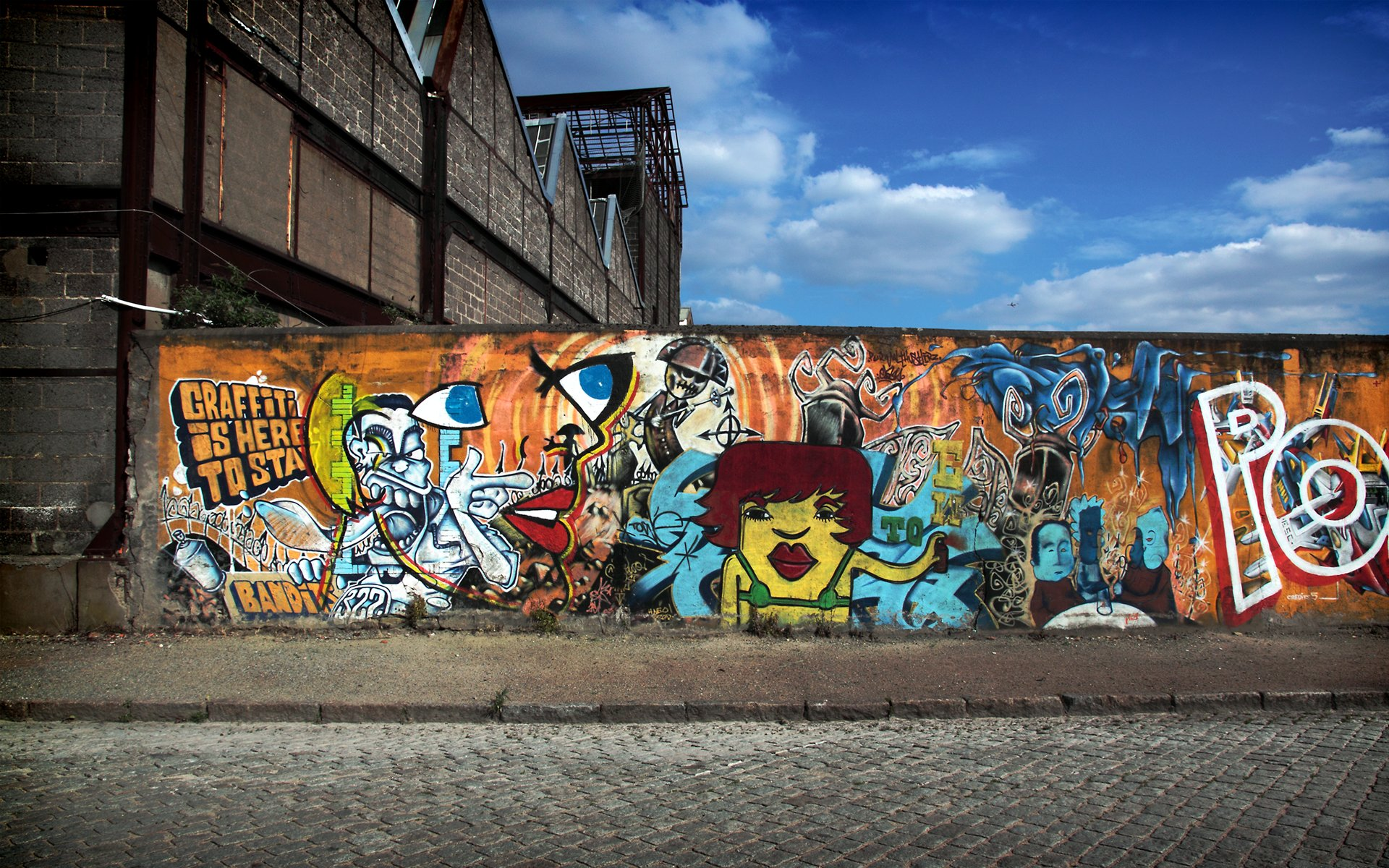 Theme Bin Blog Archive Graffiti is here to stay HD Wallpaper 1920x1200