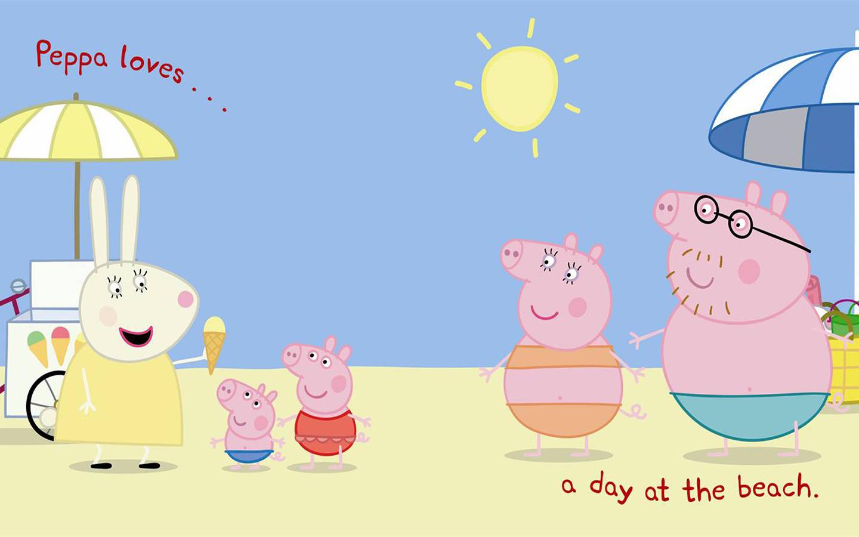 com Peppa Loves Beach Wallpaper Fondo de Pantalla Peppa Pig Online 1440x900
